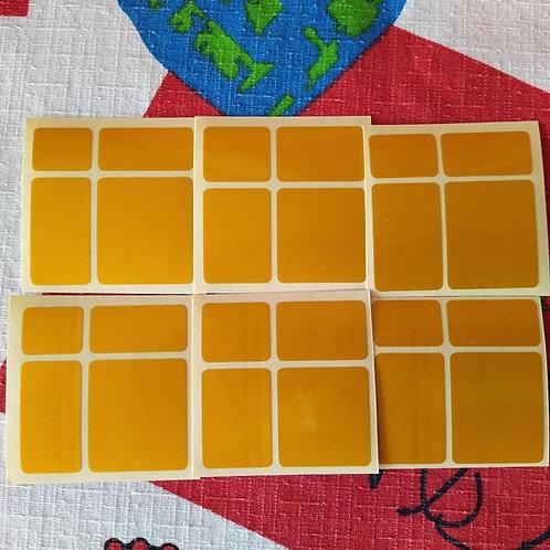 Stickers Mirror 2x2x2 dorado