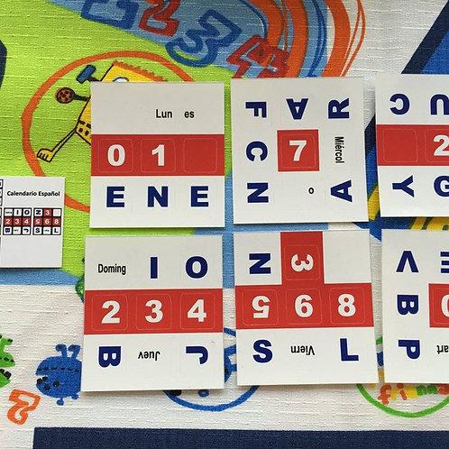 Stickers 3x3 vinil Calendario español