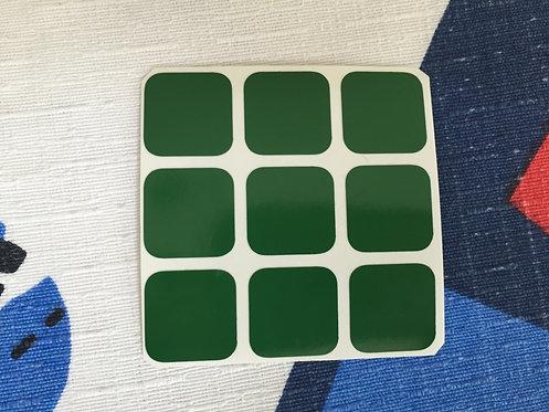 Cara 3x3 estándar vinil verde #1