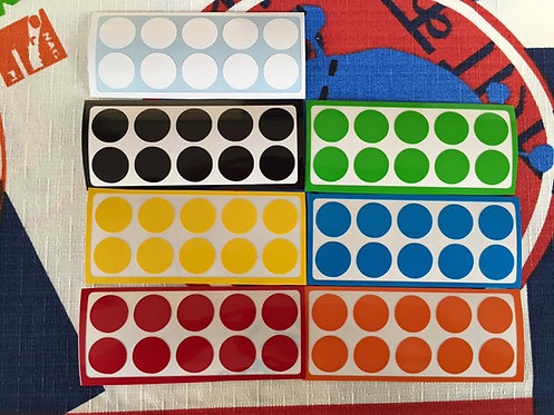 Stickers 3x3 floppy vinil colores estándar