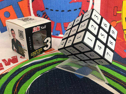 3x3 QiYi sail números base negra