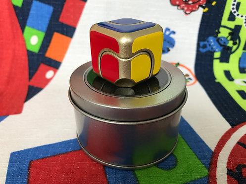 Fidget Cube Spinner dorado c/ stickers vinil colores estándar