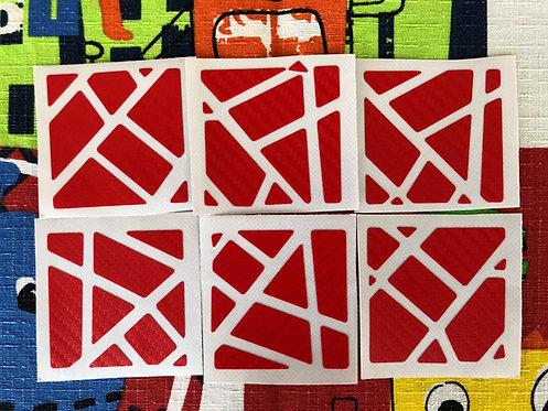 Stickers Ghost fibra de carbono rojo