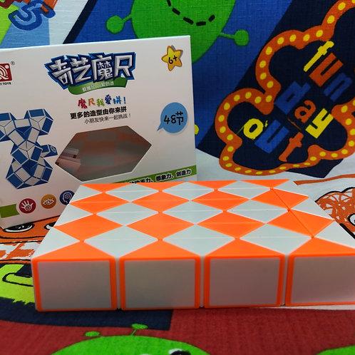 QiYi Twisty snake 48 piezas naranja con blanco