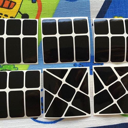 Stickers Wind Fire vinil negro