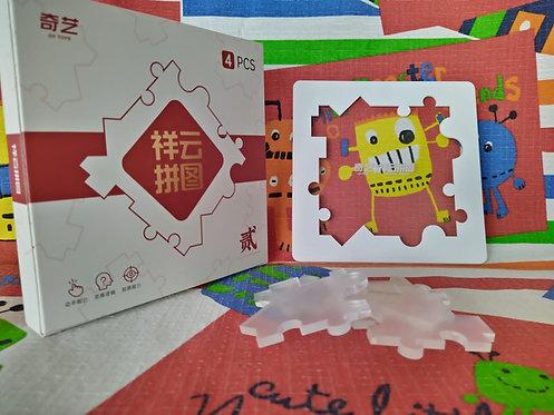 QiYi Cloud puzzle transparente 4 piezas