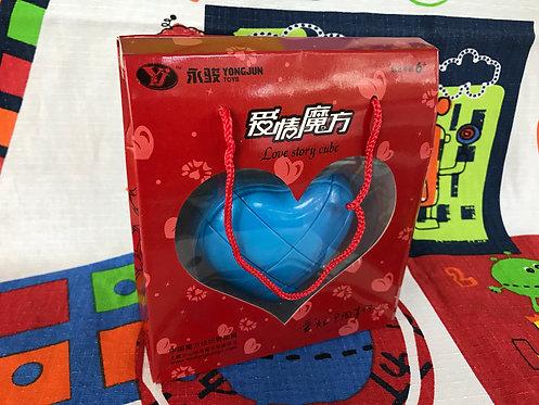YJ Corazón 3x3 azul con caja