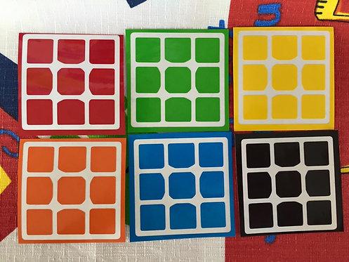 Stickers 3x3 Tanglong vinil colores estándar