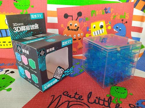 Moyu Cubo Laberinto 3D 80mm azul transparente