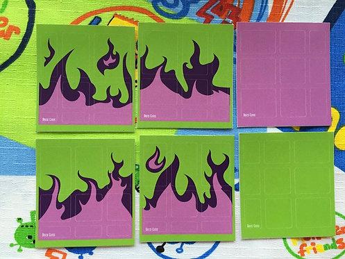 Stickers Mirror fuego verde con morado