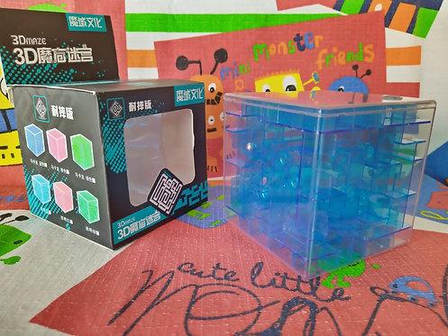 Moyu Cubo Laberinto 3D 95mm azul transparente