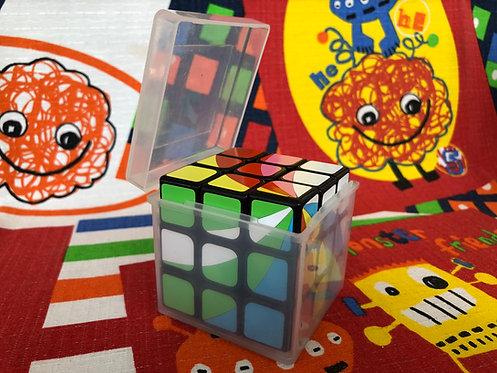 Caja plástica transparente para guardar cubo 3x3