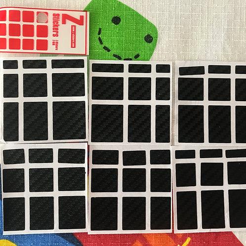 Stickers Z Mirror 3x3 fibra de carbono negro