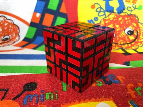 3x3 ShengShou Sujie laberinto rojo base negra