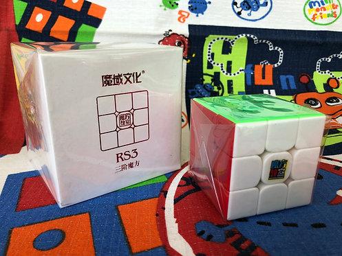 3x3 Moyu MoFangJiaoShi MF3RS3 v3 stickerless colored