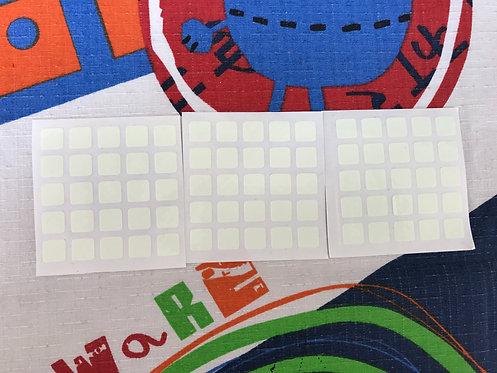 Stickers 5x5 vinil fluorescente