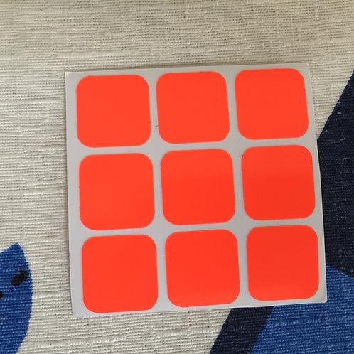 Cara 3x3 estándar vinil naranja #1