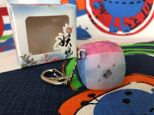 3x3x3 Pillow Mini Llavero 3.5cm jelly transparente