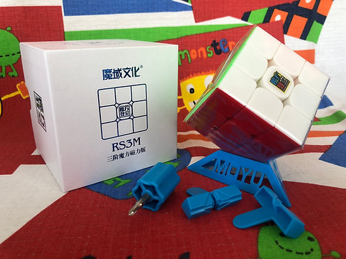 3x3 Moyu MoFangJiaoShi MF3RS3M v3 magnético stickerless colored