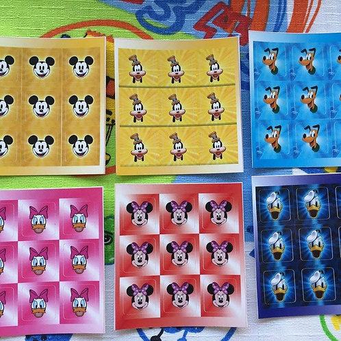 Stickers 3x3 vinil Disney