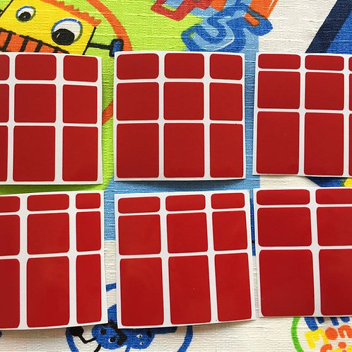 Stickers Mirror vinil rojo