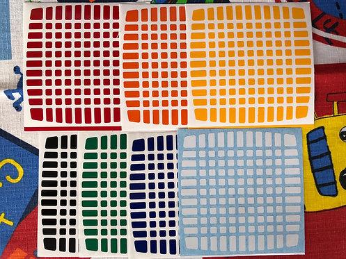 Stickers 11x11 Yuxin vinil estándar