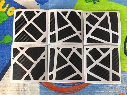 Stickers Ghost fibra de carbono negro