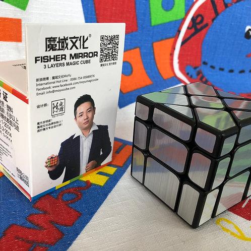Moyu MoFangJiaoShi Fisher Mirror S 3x3 base negra plateado