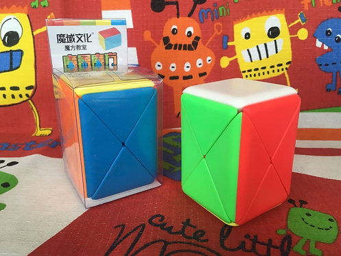 Moyu MoFangJiaoShi Skewb box container cube stickerless colored