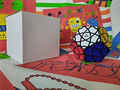MF8 AJ Red cotton bauhinia dodecaedro base negra