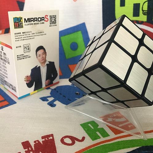 Moyu MoFangJiaoShi Mirror S 3x3 base negra plata