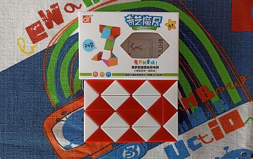 QiYi Twisty snake 24 piezas rojo con blanco