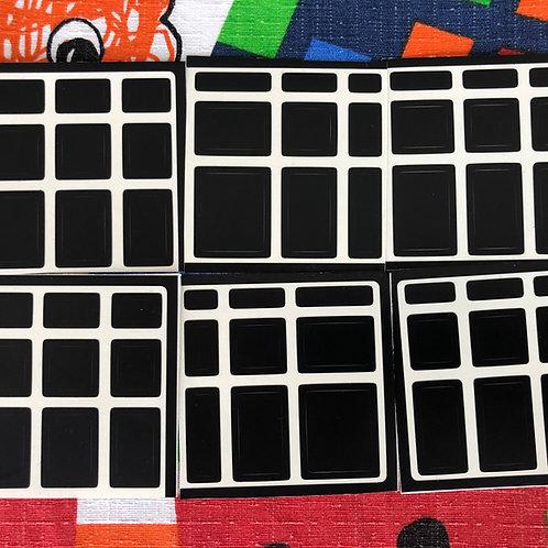 Stickers mirror 3x3 vinil outline negro