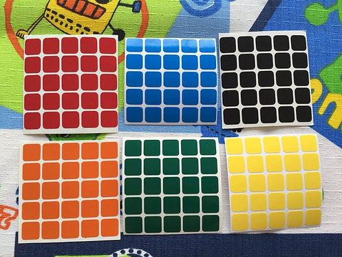 Stickers 5x5 vinil colores estándar