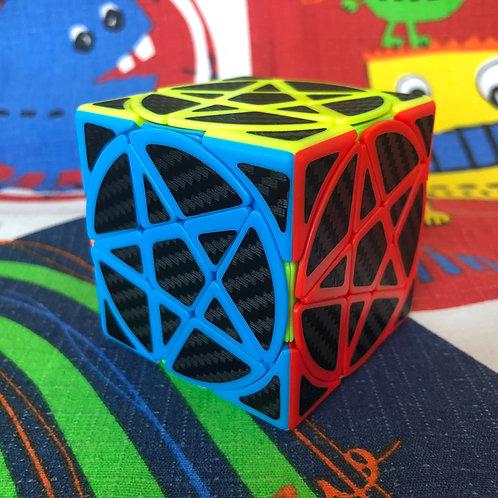 Pentacle cube phantom colored