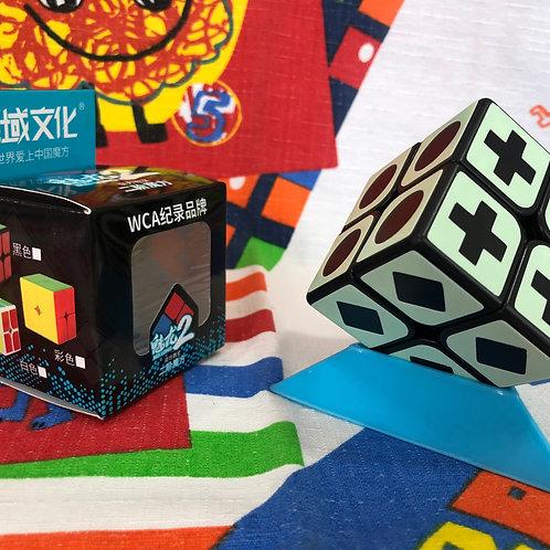 2x2 Moyu Meilong base negra fluorescente