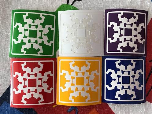 Stickers Gear Cube v1 cara morada