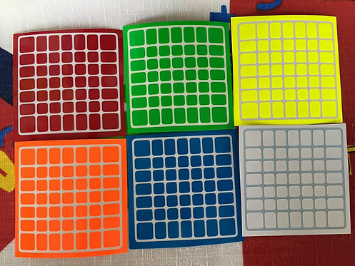 Stickers 7x7 Moyu Aofu Flat vinil half bright