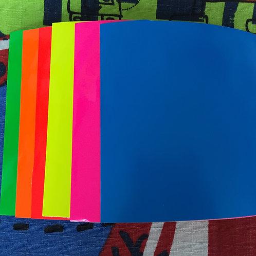 Vinil 10x10cm colores fosforescentes