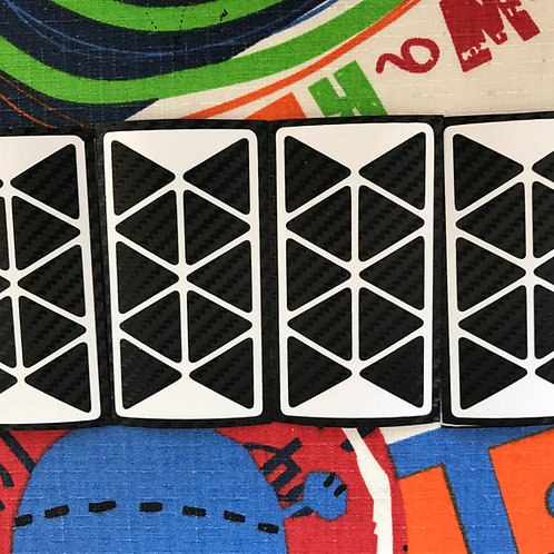 Stickers Pyraminx fibra de carbono negro