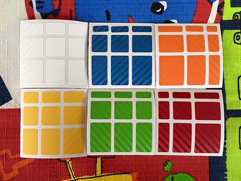 Stickers Mirror fibra de carbono colores clásicos