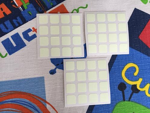 Stickers 4x4 fluorescentes