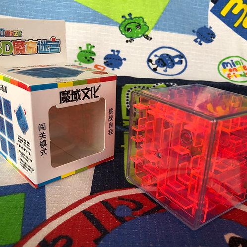 Moyu Cubo Laberinto 3D 60mm rojo transparente