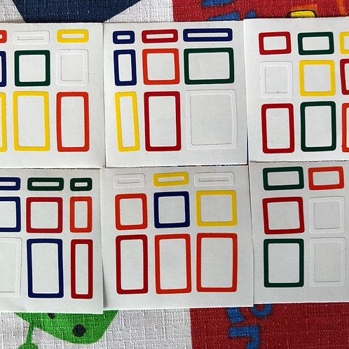 Stickers Mirror 3x3 Horror vinil outline colores estándar