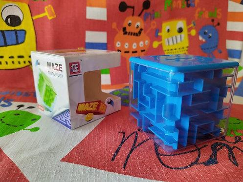Alcancía laberinto azul