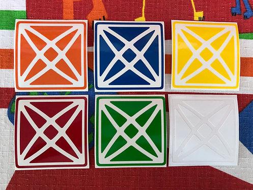 Stickers Rex Cube vinil colores estándar