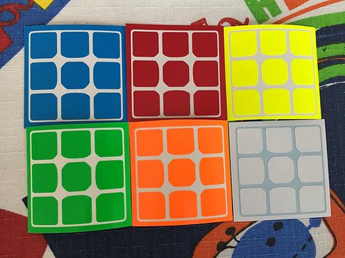Stickers QiYi Thunderbolt / clap 3x3 half bright