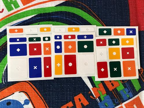Stickers Mirror 3x3 Horror 3 soluciones vinil colores estándar