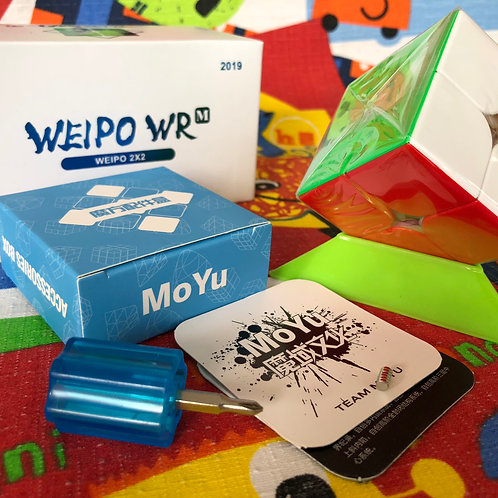 2x2 Moyu Weipo WR magnético stickerless colored