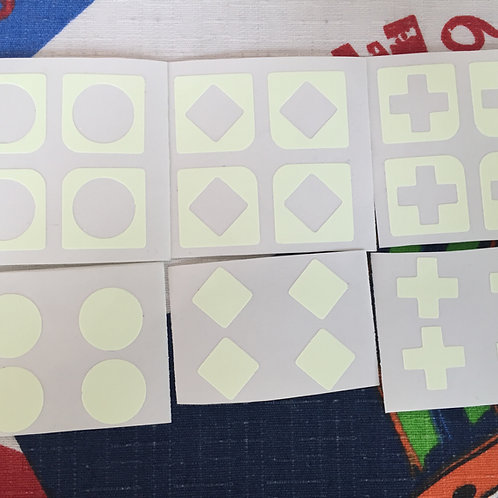 Stickers 2x2 vinil fluorescente